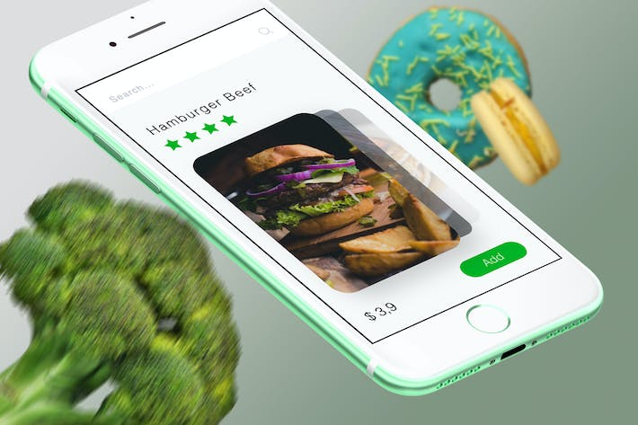 Thumbnail for Food Cards Mobile Ui - T