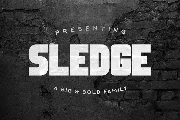Thumbnail for Sledge Typeface