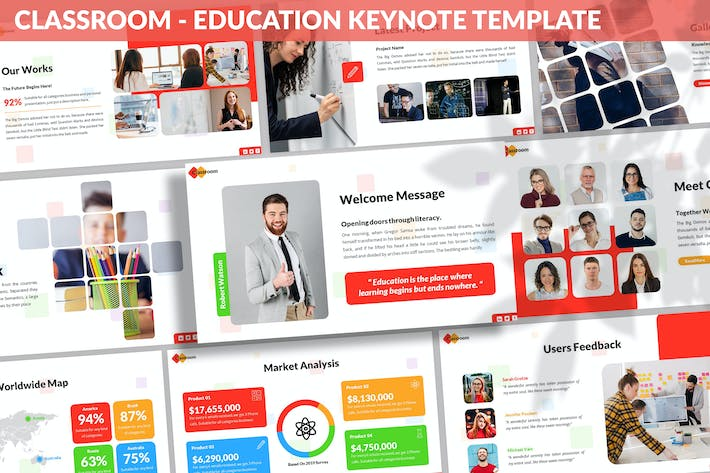 Thumbnail for Classroom - Education Keynote Template