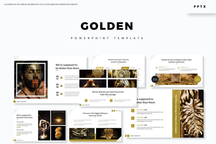 Cover Image For Golden - Powerpoint Template