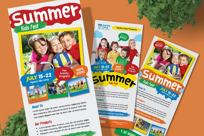 Thumbnail for Kids Summer Camp Rack Card