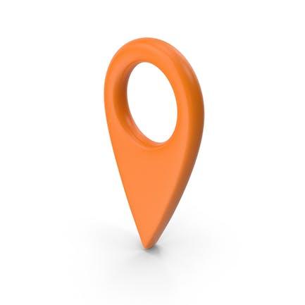 Значок карты Оранжевый
