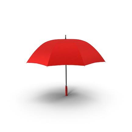 Offener roter Regenschirm