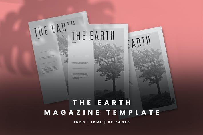 Thumbnail for The Earth Magazine Template