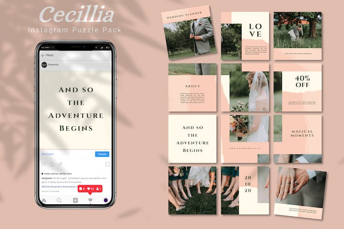 Thumbnail for Cecillia - Instagram Puzzle Pack