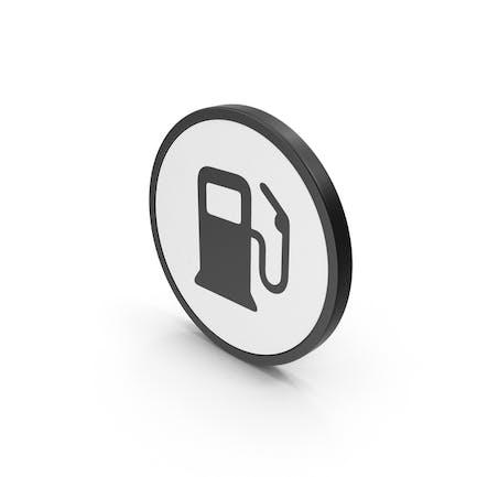 Logo de combustible de icono