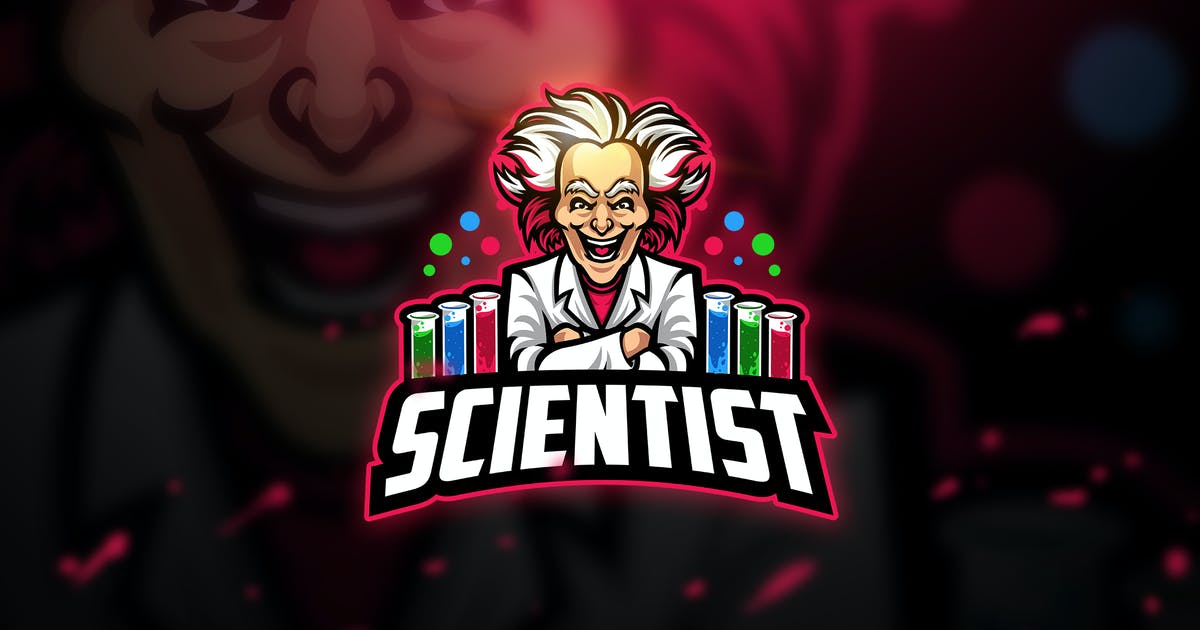Download Scientist - Mascot & Esport Logo by aqrstudio