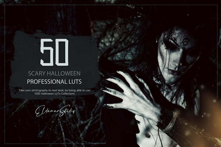 50 Scary Halloween LUTs and Presets Pack