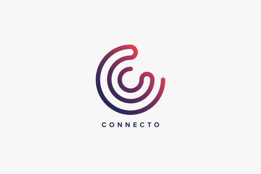 Connecto Logo C Letter Template