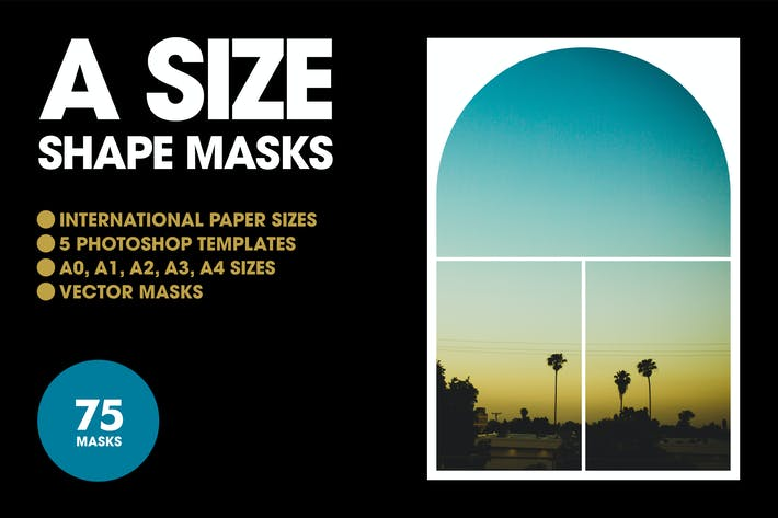 Thumbnail for A Size Shape Masks - 5 PSD Templates