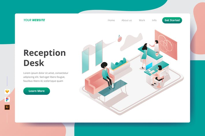Thumbnail for Reception Desk - Landing Page