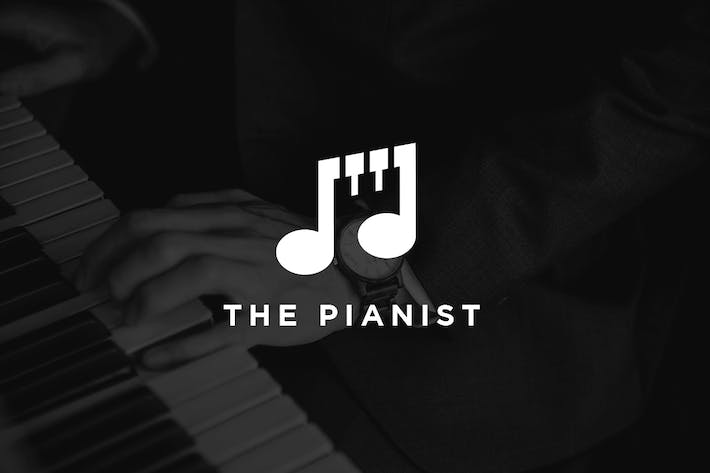 The Pianist - Music Note Logo