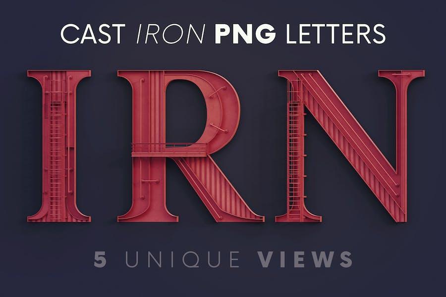 Cast Iron Construction - 3D Lettering