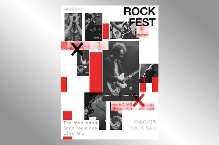 Thumbnail for Rock Fest Flyer Poster
