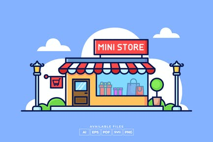 Ilustración de Mini Store