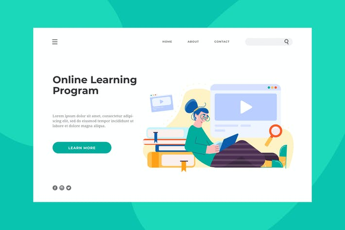Thumbnail for Online Learning Landing Page