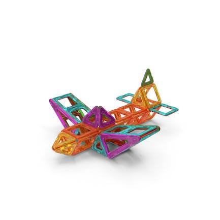 Magnetic Designer Toy Airplane