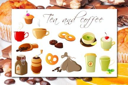 Kaffee und Tee Icons