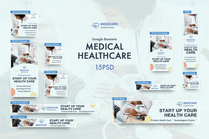 Thumbnail for Medical Banners Ad PSD Template