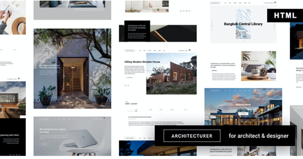 Download Architecturer - Interior Design HTML Template by max-themes