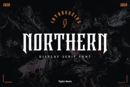 Northern Display Serif Font