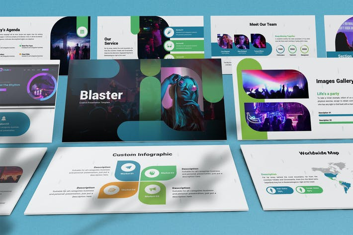Thumbnail for Blaster - Abstract Keynote Template