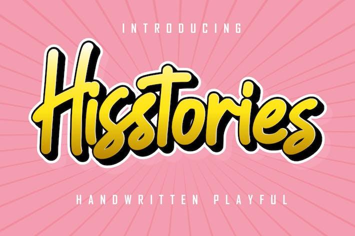 Hisstories - Handwritten Playful
