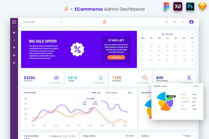 Thumbnail for Promotial - ECommerce Admin Dashboard UI Kit