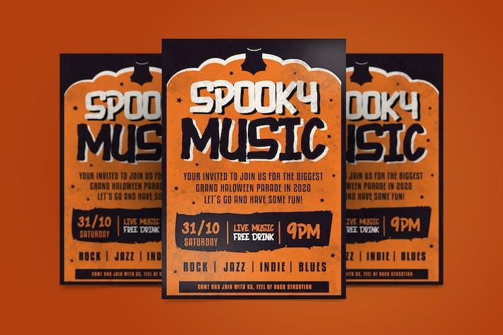 Spooky Music Flyer