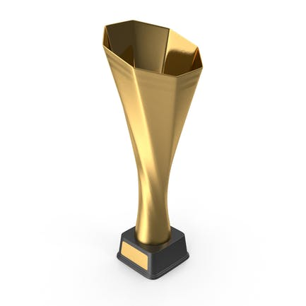 Gold Abstract Trophy Cup