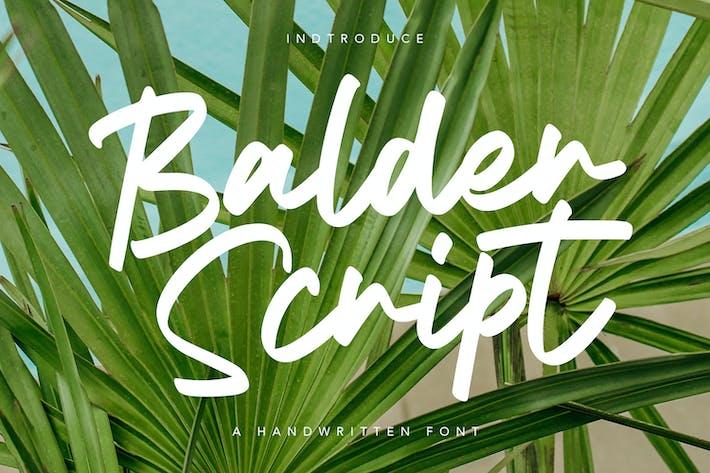 Thumbnail for Balder Script Font