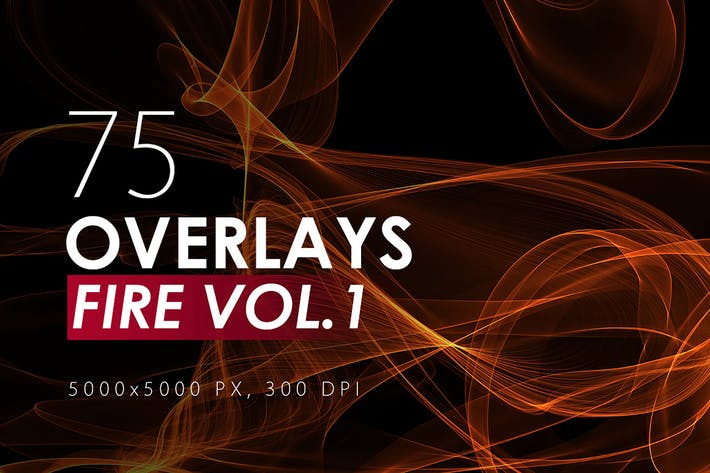 Thumbnail for 75 Abstract Fire Overlays Vol. 1