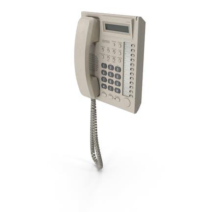 Teléfono de oficina de pared utilizado