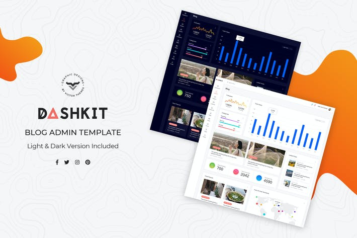 Thumbnail for Blog Admin Dashboard UI Kit