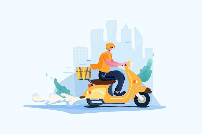 Versand Online - Vektor Illustration