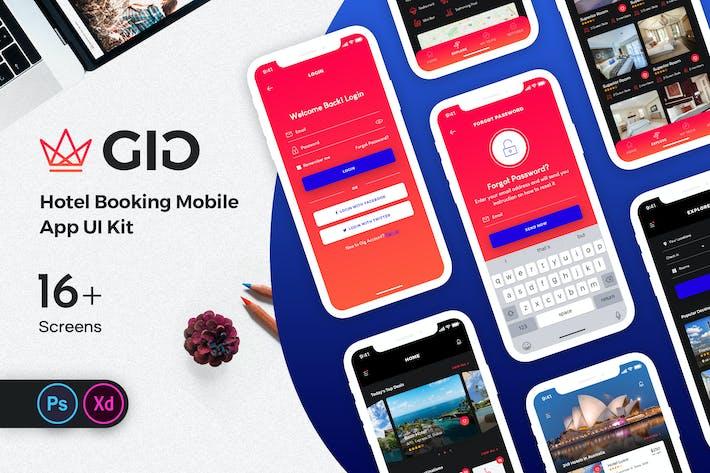 Thumbnail for Kit de interfaz de usuario de la Aplicación móvil GiG Hotel Booking