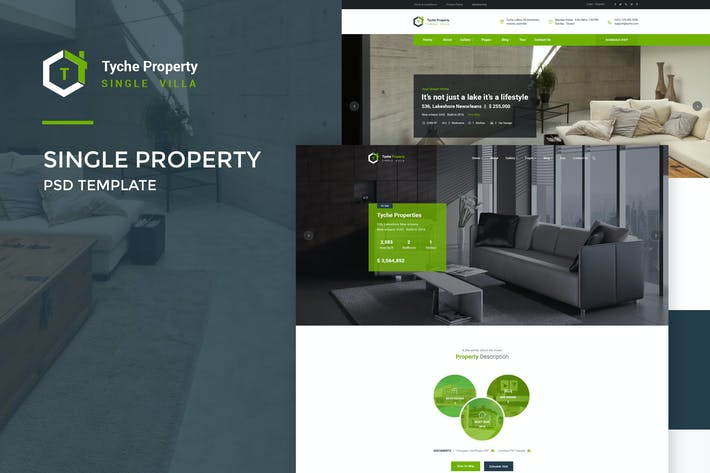 Thumbnail for Tyche Properties : Single Property PSD Template