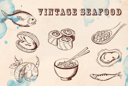 Vintage Meeresfrüchte