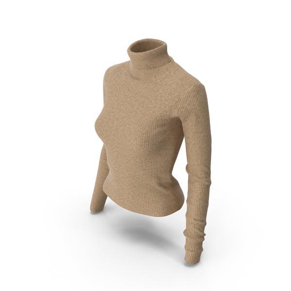 Женский пуловер бежевый