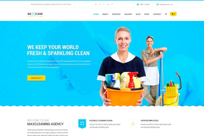 Cover Image For Max Cleaners & Movers - PSD Template
