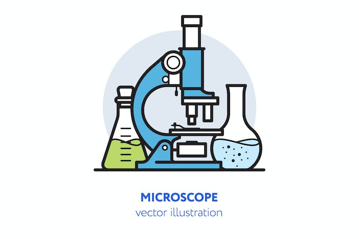 Thumbnail for Microscope vector illustration