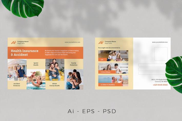 Conception de cartes postales d'assurance maladie