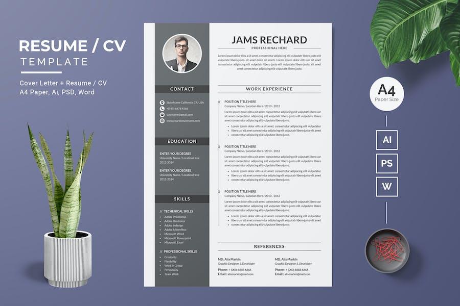 Modern Resume / CV Template