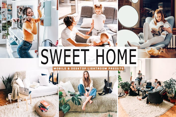 Thumbnail for Sweet Home Mobile & Desktop Lightroom Presets