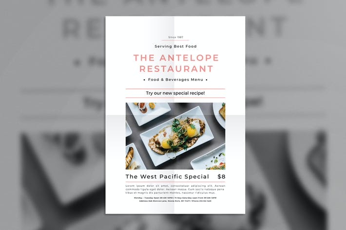 Cover Image For Restaurant Promotion Flyer