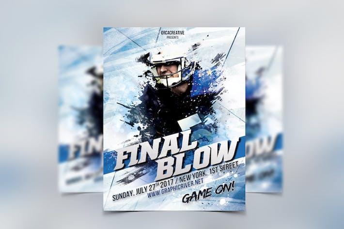 Final Blow Sport Flyer Template