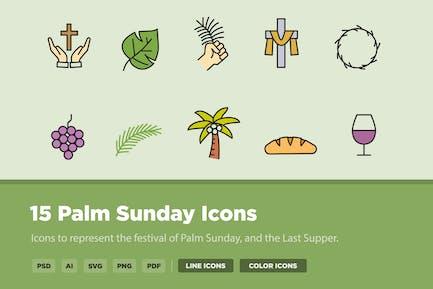 15 Palm Sunday Icons