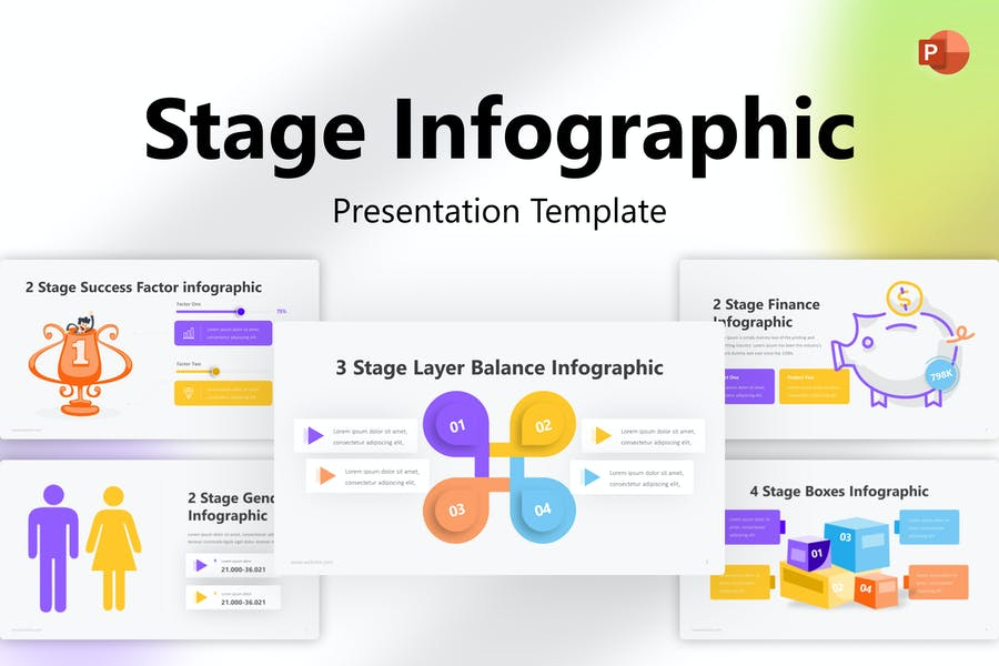 Stage Infographic PowerPoint Template
