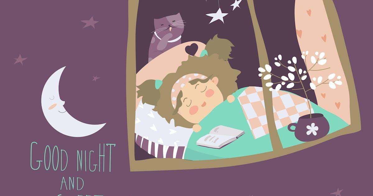 Download Little girl sleeping by the window by masastarus