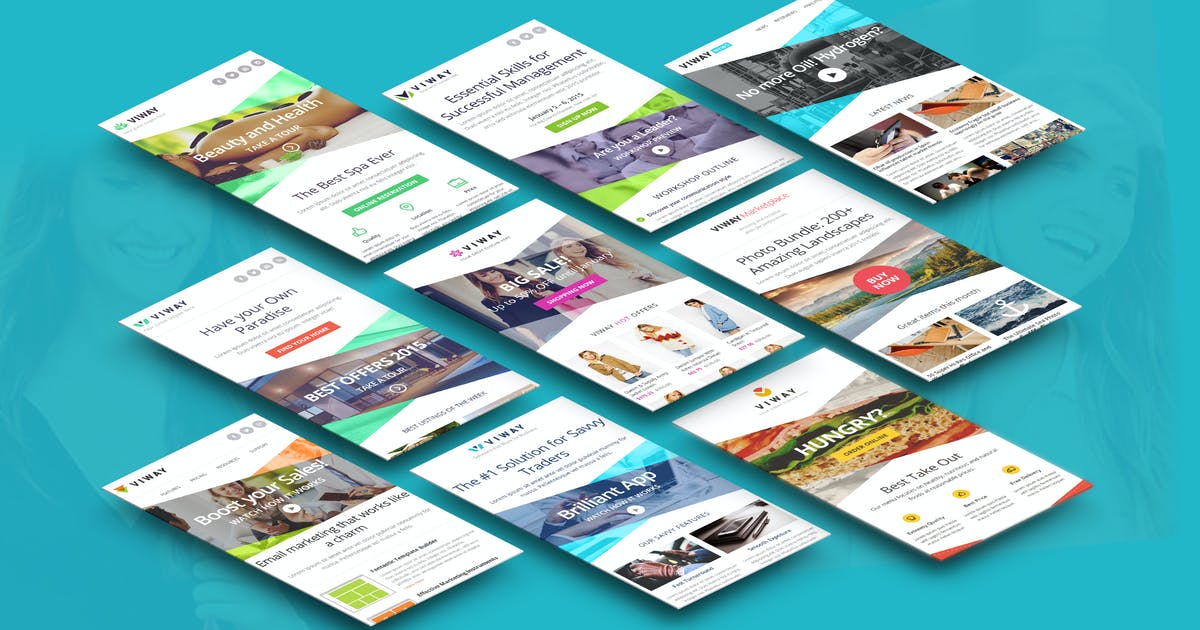 Download Viway Email Template by JeetuG